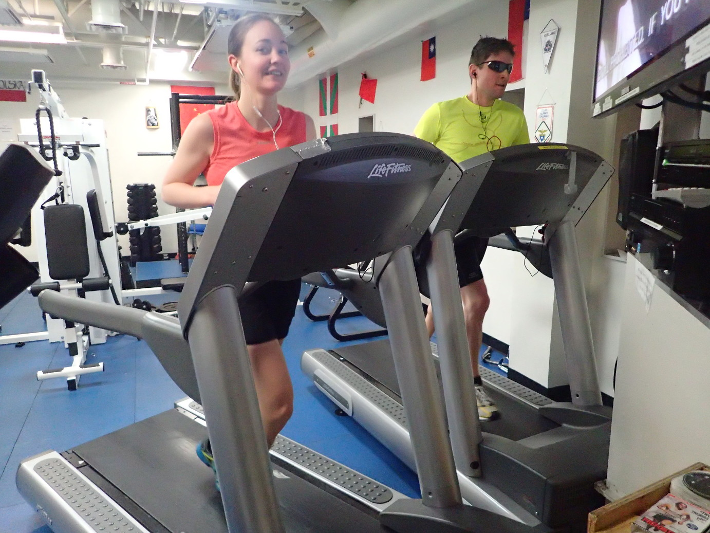 Discipline 5 - 10k treadmill run (Photo: Brett Baddorf)