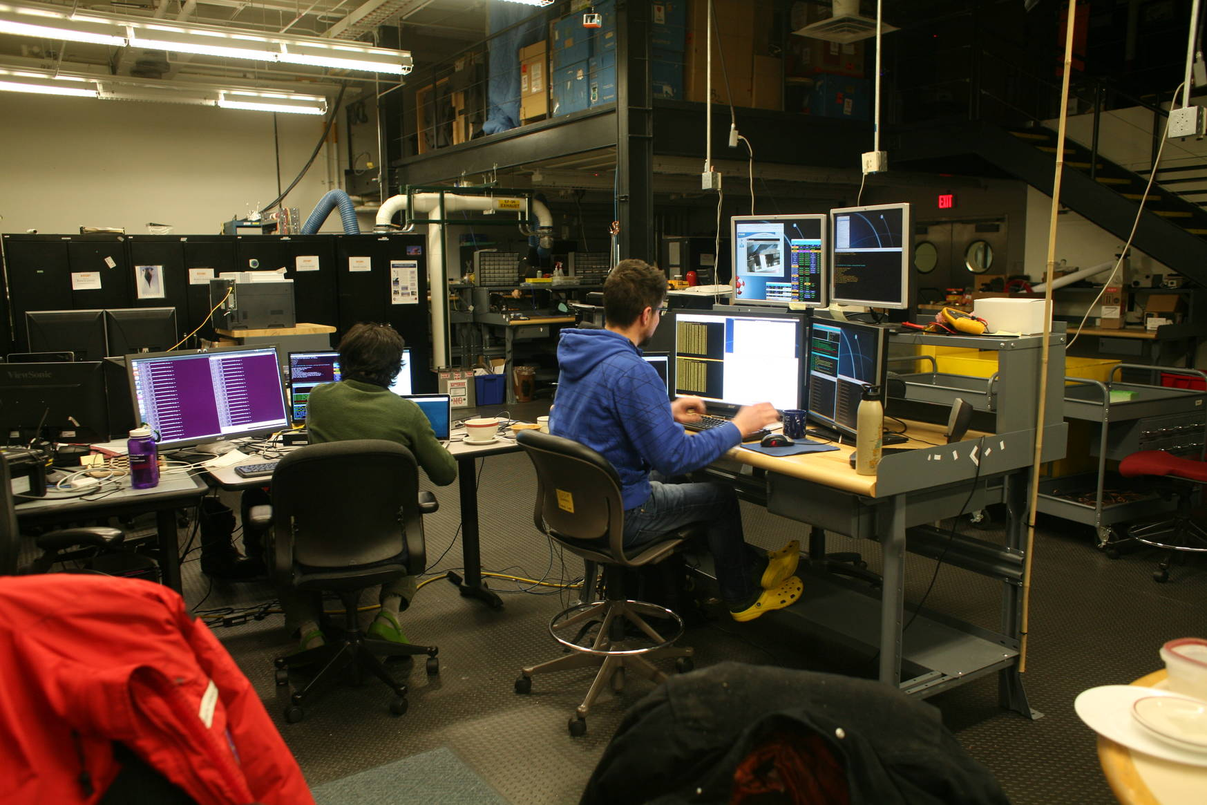 April 2017: Telescope control during EHT observations.