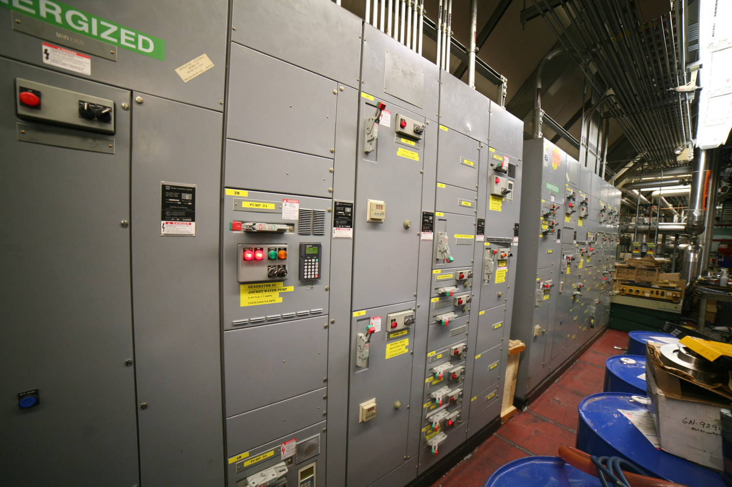 Power plant electrical panel