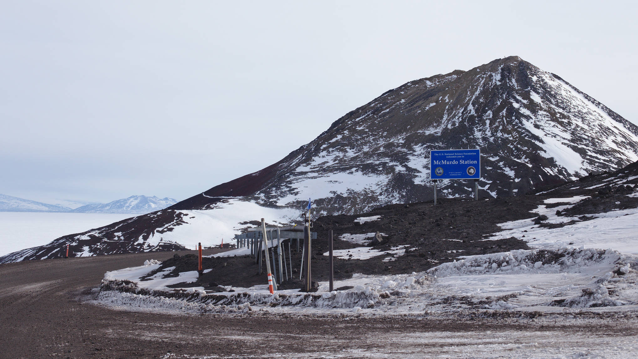One step closer to home - the road to McMurdo