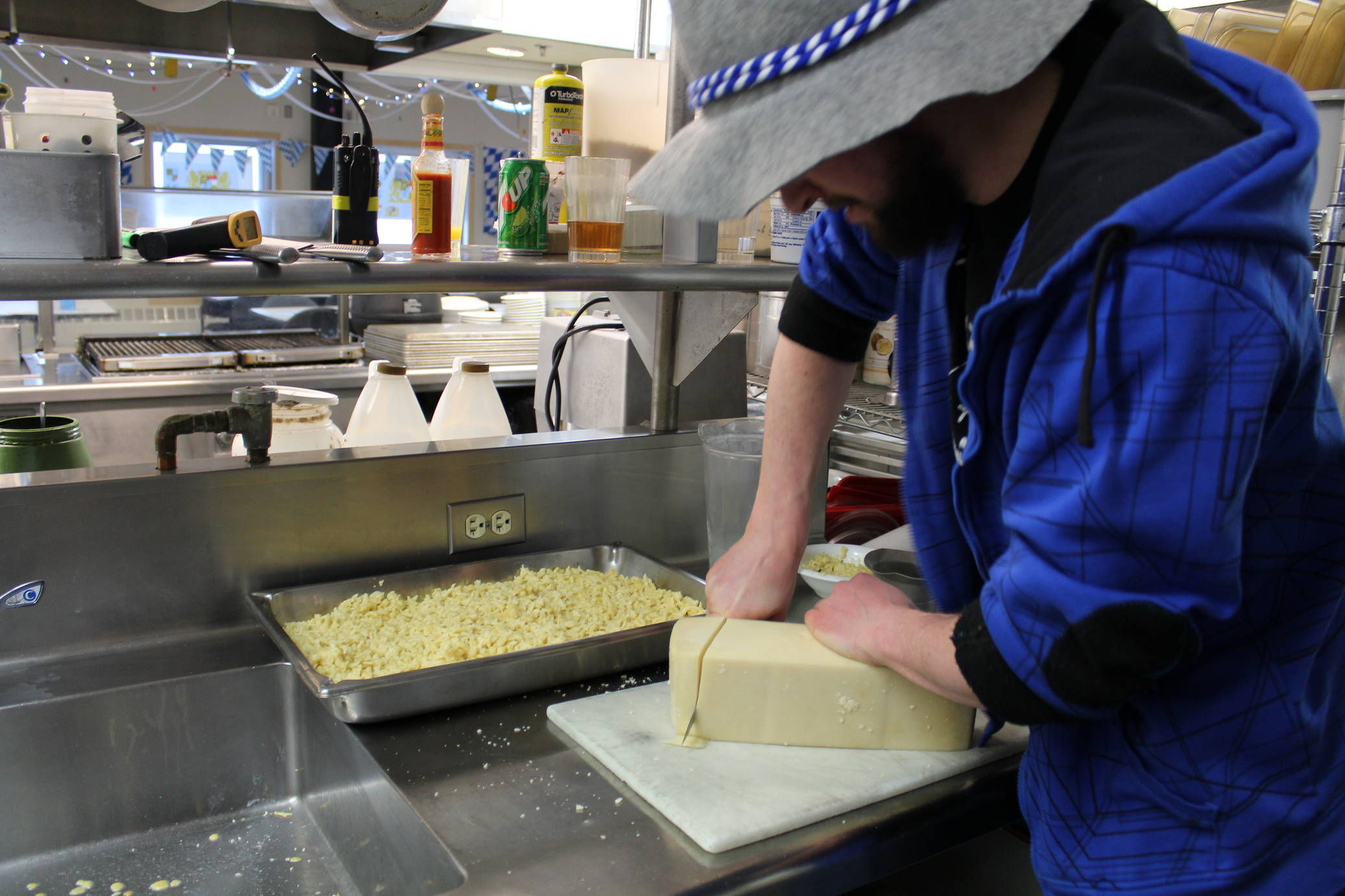 Behind the scenes - Käsespätzle with extra cheese (Photo: Stephanie Olcott)