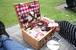 Concerts in the park become even better by bringing a cute picnic basket