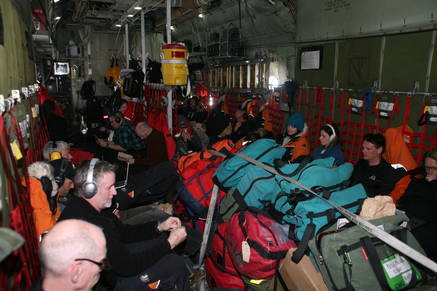 2500 kg of fresh fruit and vegetables, science cargo, and a large team of staff and visitors on their way to Antarctica.